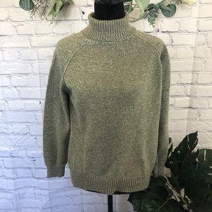 Karen Scott Pistachio green turtle neck sweater